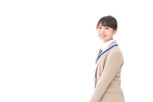 笑顔の若いビジネスウーマンの写真素材 [FYI04711779]
