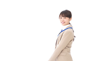 笑顔の若いビジネスウーマンの写真素材 [FYI04711790]