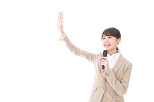 選挙に立候補する女性の写真素材 [FYI04711819]