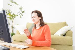オンライン英会話・インターネット授業・ネイティブ英会話イメージの写真素材 [FYI04712234]
