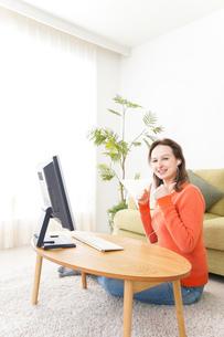 オンライン英会話・インターネット授業・ネイティブ英会話イメージの写真素材 [FYI04712275]