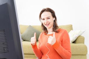 オンライン英会話・インターネット授業・ネイティブ英会話イメージの写真素材 [FYI04712277]