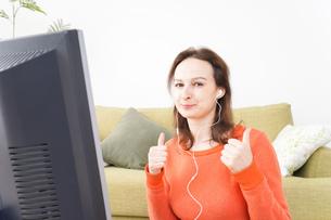 オンライン英会話・インターネット授業・ネイティブ英会話イメージの写真素材 [FYI04712280]