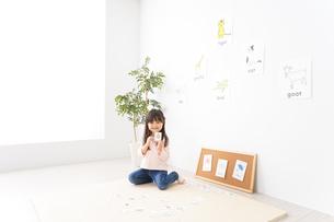 英語のお勉強をする子どもの写真素材 [FYI04712658]