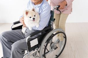 介護をする高齢の夫婦の写真素材 [FYI04712714]