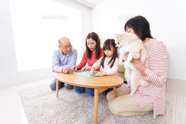幸せな家族の集合写真の写真素材 [FYI04712909]