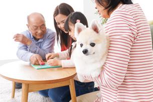 幸せな家族の集合写真の写真素材 [FYI04712911]