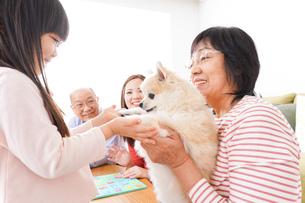 幸せな家族の集合写真の写真素材 [FYI04712918]