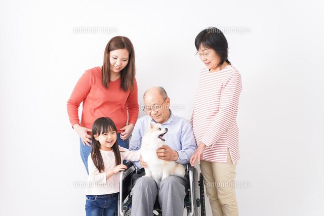 幸せな家族の集合写真の写真素材 [FYI04712972]