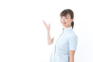 ポイントを指差す若い看護師の写真素材 [FYI04713118]
