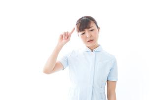 NOを示す若い看護師の写真素材 [FYI04713178]