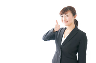笑顔の若いビジネスウーマンの写真素材 [FYI04713432]