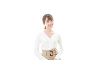 笑顔の若い女性の写真素材 [FYI04714339]