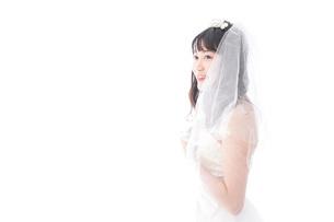 花嫁ポートレートの写真素材 [FYI04714778]