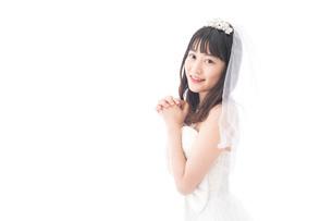 花嫁ポートレートの写真素材 [FYI04714787]