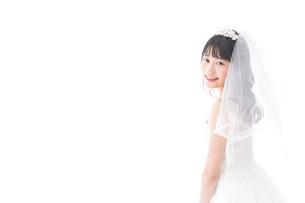 花嫁ポートレートの写真素材 [FYI04714812]