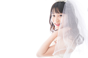 花嫁ポートレートの写真素材 [FYI04714817]