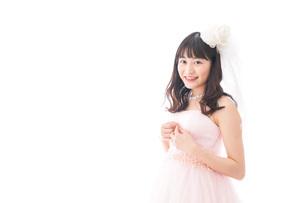 ドレスを着た若い花嫁の写真素材 [FYI04714962]
