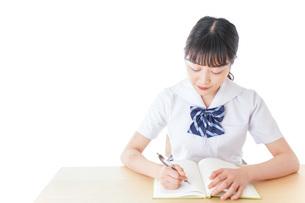 授業を受ける若い女子学生の写真素材 [FYI04715852]