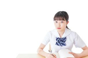 授業を受ける若い女子学生の写真素材 [FYI04715853]