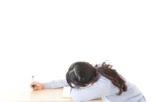 勉強をサボる若い女子学生の写真素材 [FYI04716607]