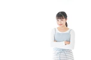 悩む若い主婦の写真素材 [FYI04717208]