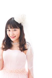 ピンクのドレスを着た花嫁の写真素材 [FYI04718322]