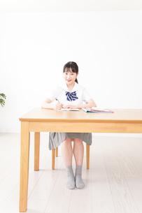勉強をする学生の写真素材 [FYI04718701]