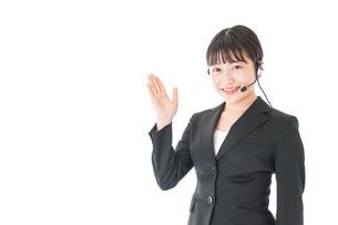 オペレーター・お客様相談室の女性の写真素材 [FYI04719125]