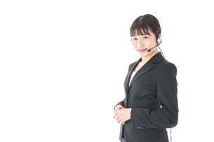 オペレーター・お客様相談室の女性の写真素材 [FYI04719134]