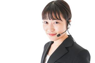 オペレーター・お客様相談室の女性の写真素材 [FYI04719144]