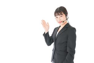 オペレーター・お客様相談室の女性の写真素材 [FYI04719146]
