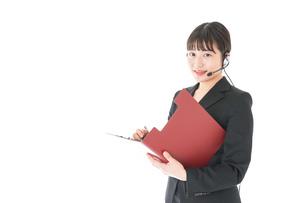 オペレーター・お客様相談室の女性の写真素材 [FYI04719156]