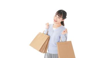ショッピングを楽しむ若い女性の写真素材 [FYI04720703]