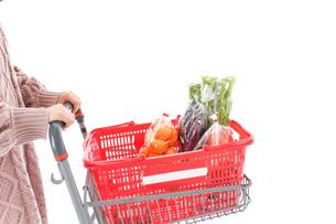 食料品の買い物をする若い女性の写真素材 [FYI04720901]
