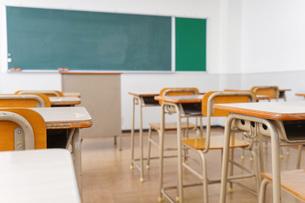 誰もいない学校の教室の写真素材 [FYI04721294]