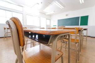 誰もいない学校の教室の写真素材 [FYI04721296]