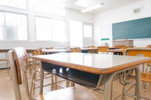 誰もいない学校の教室の写真素材 [FYI04721303]