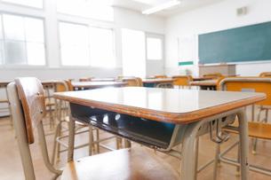 誰もいない学校の教室の写真素材 [FYI04721306]