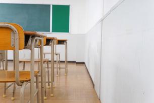 誰もいない学校の教室の写真素材 [FYI04721307]