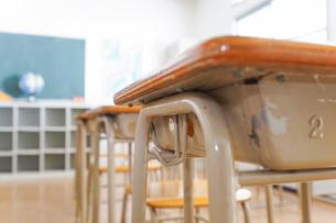 誰もいない学校の教室の写真素材 [FYI04721318]