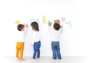 保育園で遊ぶ子供たちの写真素材 [FYI04721444]