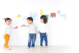 保育園で遊ぶ子供たちの写真素材 [FYI04721449]