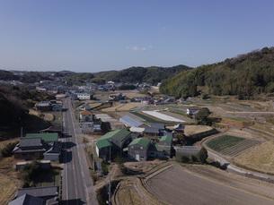 日本の田園風景ドローン撮影・淡路島の写真素材 [FYI04721695]