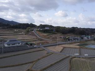 日本の田園風景ドローン撮影・淡路島の写真素材 [FYI04721814]