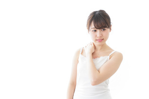肩こり・関節痛に悩む女性の写真素材 [FYI04721876]