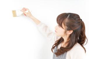 DIYをする女性の写真素材 [FYI04723083]