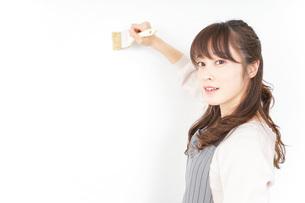 DIYをする女性の写真素材 [FYI04723086]
