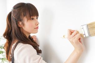 DIYをする女性の写真素材 [FYI04723088]