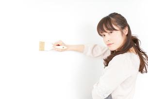 DIYをする女性の写真素材 [FYI04723103]